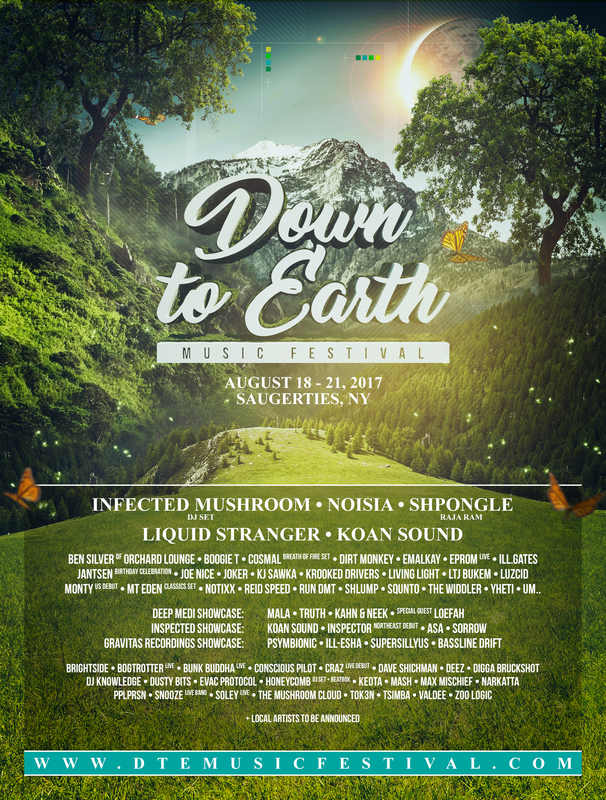 2017/01/29: DOWN TO EARTH LINEUP ANNOUNCEMENT - Cosmal - Live Music / Art Fusion