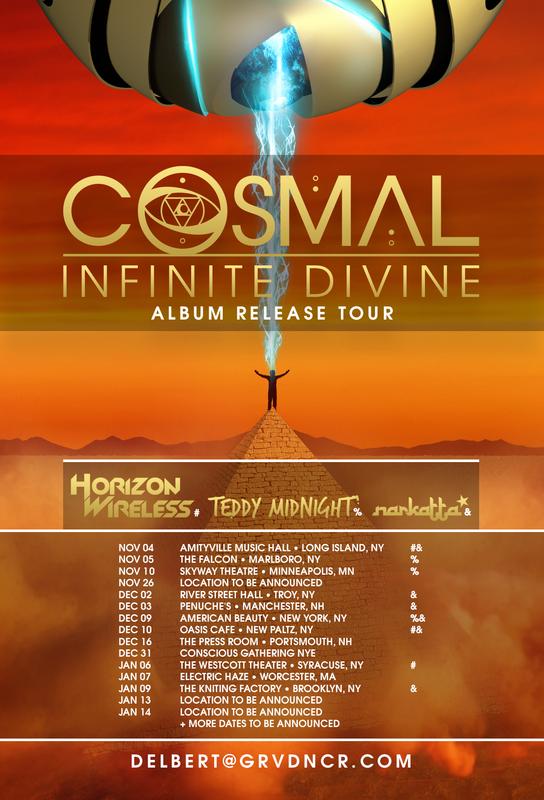 2016/11/03: COSMAL ANNOUCNES INFINITE DIVINE ALBUM RELEASE TOUR - Cosmal - Live Music / Art Fusion