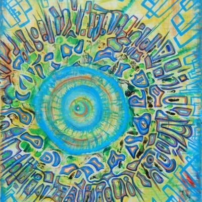 """Bonnaroo"" Print - Cosmal - Live Music / Art Fusion"